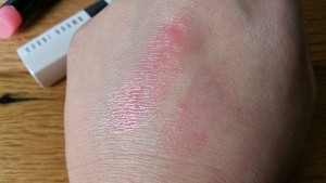 Bobbi Brown Extra Lip Tint Bare Pink - swatched in natural light