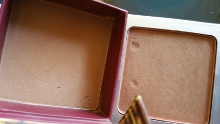 Benefit Hoola on the left and It Cosmetics on the right