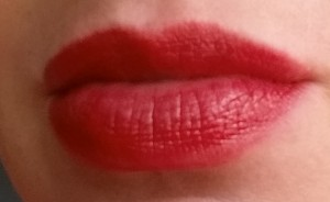 Bobbi Brown Nourishing Lip Color - Poppy - Swatch on lips in natural light