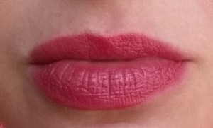 Bobbi Brown Nourishing Lip Color - Cosmic Peony - Swatch on lips in natural light