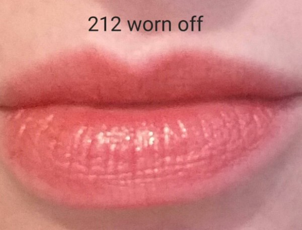 Cle de Peau Beaute Extra Rich Lipstick #212 - photographed after lipstick had worn off - for reference