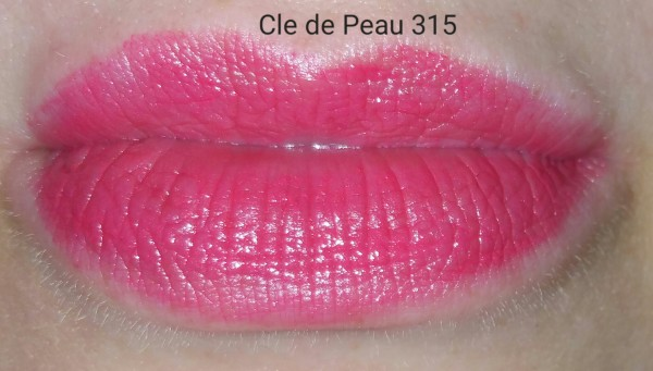 Cle de Peau Beaute Extra Rich Lipstick #315 - swatched on lips - with flash