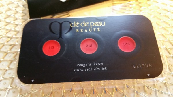 Cle de Peau Beaute Extra Rich Lipstick Sampler - Colors 113, 212, and 315