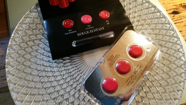 Giorgio Armani Rouge Ecstasy Lipstick Sampler and Cle de Peau Beaute Extra Rich Lipstick Sampler
