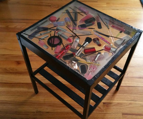 Epoxy And Me Diy Makeup Top Table Made From A Glass