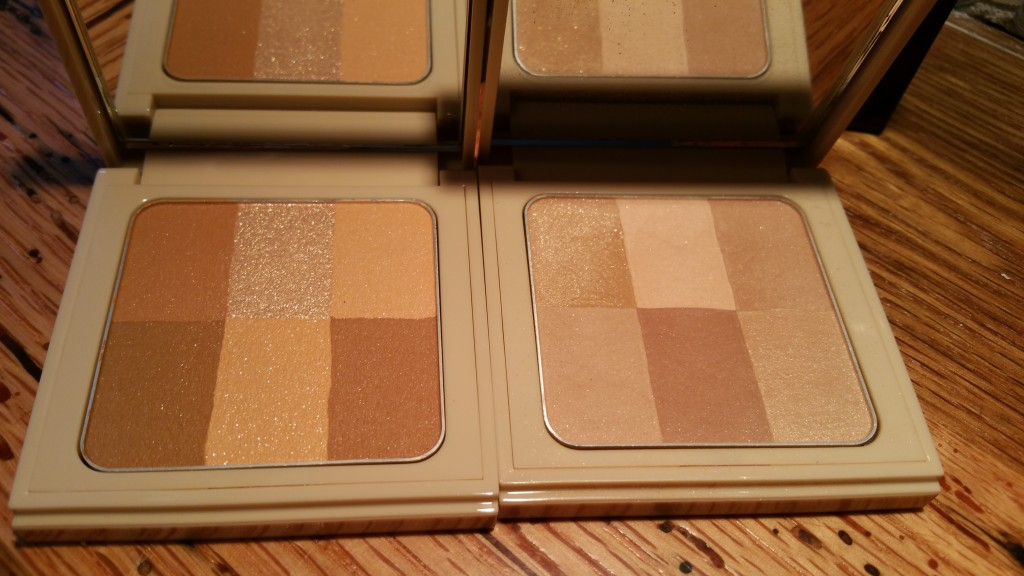 Left to Right: Bobbi Brown Nude Finish Illuminating Powders Golden and Buff