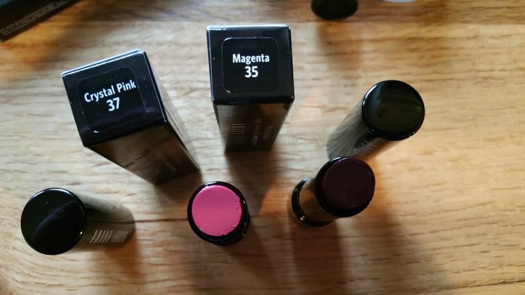 Bobbi Brown Sheer Lip Colors in Magenta - 35 & Crystal Pink - 37