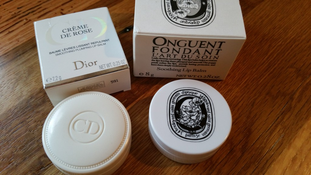 Dior Crème De Rose Smoothing Plumping Lip Balm & Diptyque's L'Art Du Soin Soothing Lip Balm