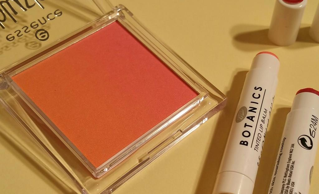 Essence Blush Up! in Heatwave #10 and Boots Botanics Tinted Lip Balms