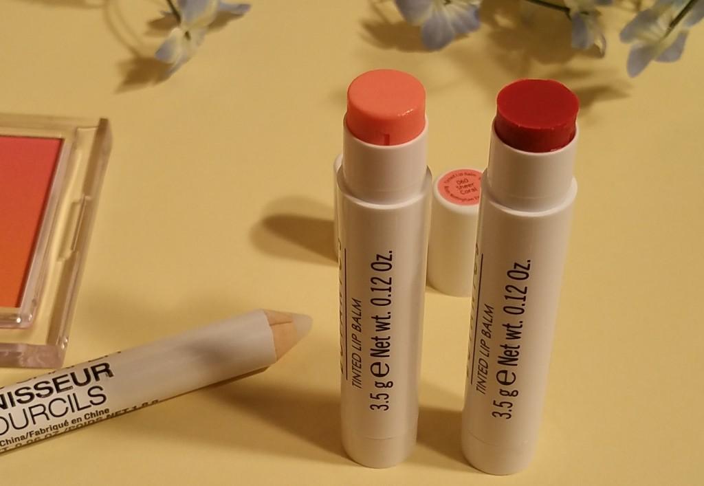 Boots Botanics Tinted Lip Balm in Sheer Coral #060 and Sheer Pomegranate #040