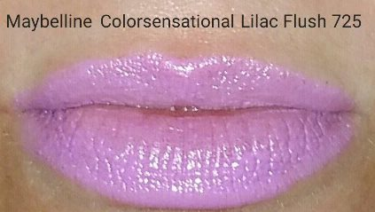 Maybelline Colorsensational Lipstick - Lilac Flush - Swatched on Lips