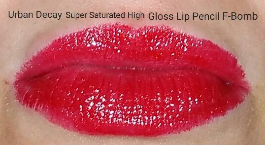 Urban Decay Super Saturated Lip Pencil - F Bomb - Swatched on Lips