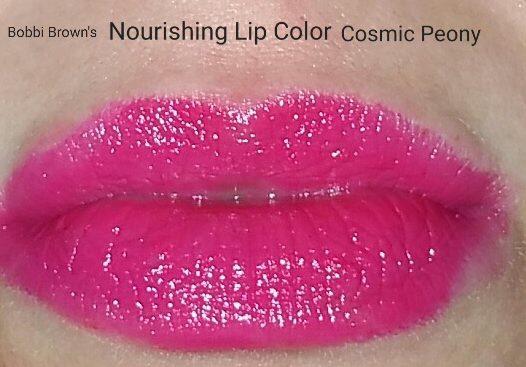 Bobbi Brown Nourishing Lip Color - Cosmic Peony - swatched on lips
