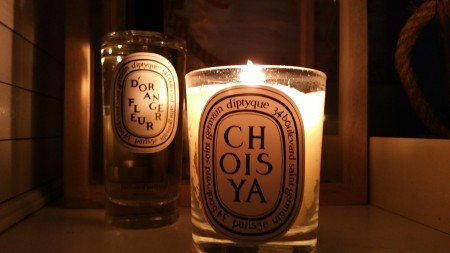 Diptyque Fleur D'Orange room spray (5.1 oz) and Choisya candle (6.5 oz)