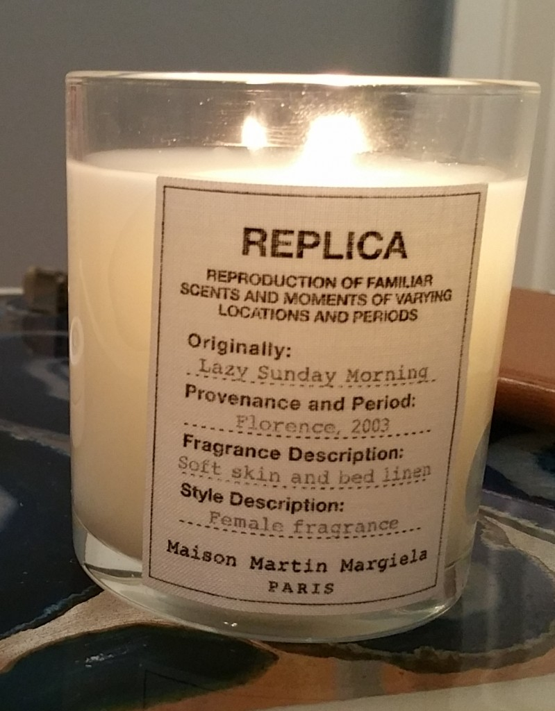 Replica Lazy Sunday Morning candle