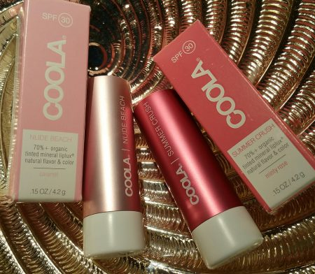 Coola Mineral Liplux SPF 30 in Nude Beach and Summer Crush