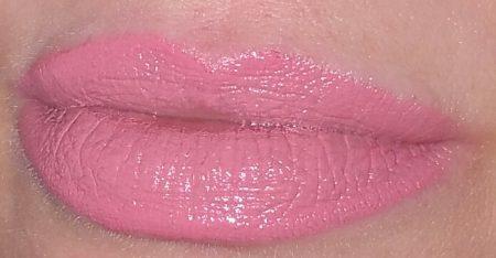 Wearing Bobbi Brown Luxe Lip Color in Pink Cloud