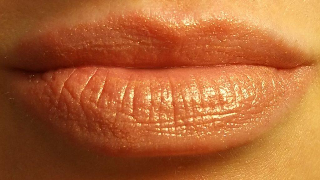 Bobbi Brown Sheer Lip Color in Pink Gold #40 - worn on lips